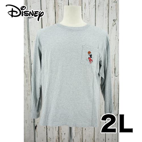 【美品】GU ワンポイント 刺繍  ロング Tシャツ 2L USED 古着