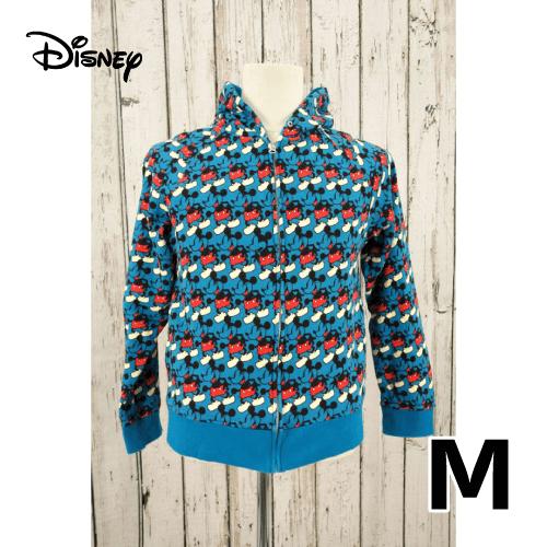 Disney(ディズニー) ミッキー 総柄 フルジップパーカー M USED 古着