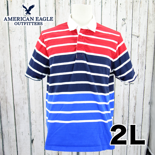 American Eagle(アメリカンイーグル) 半袖 ポロシャツ 2L USED 古着