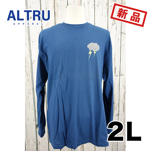 大きいサイズ メンズ ロンT 長袖Tシャツ ALTRU カミナリ 2L
