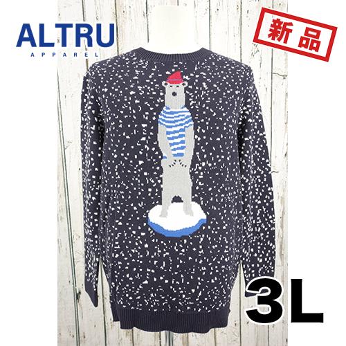 大きいサイズ メンズ セーター ALTRU くま 3L 2XL
