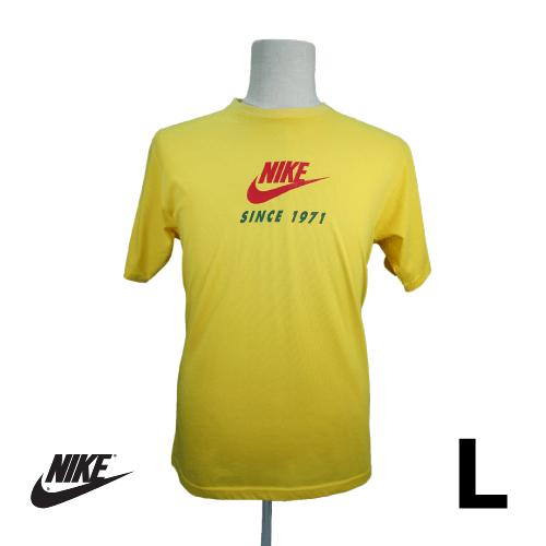 NIKE(ナイキ) 半袖Tシャツ L イエロー ロゴ USED 古着