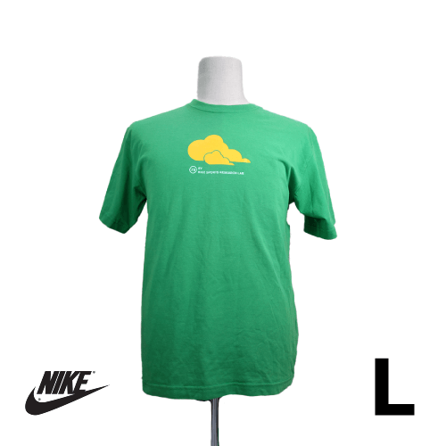 NIKE(ナイキ) 半袖Tシャツ L グリーン バッグロゴ USED 古着