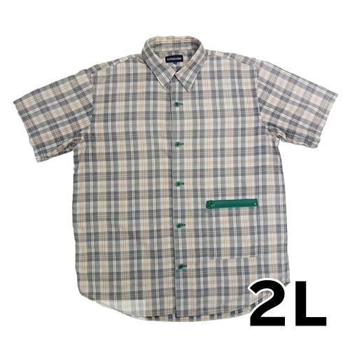 【美品】BOOTLEG BOOTH 半袖チェックシャツ 2L