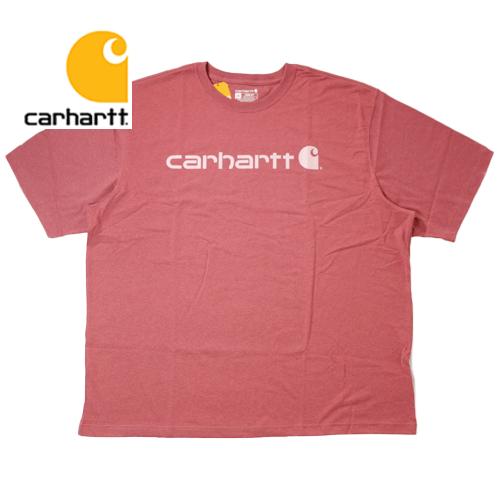 【数量限定】  大きいサイズ CARHARTT カーハート K195 Logo 半袖Tシャツ メンズ / Blush Pink / 3L