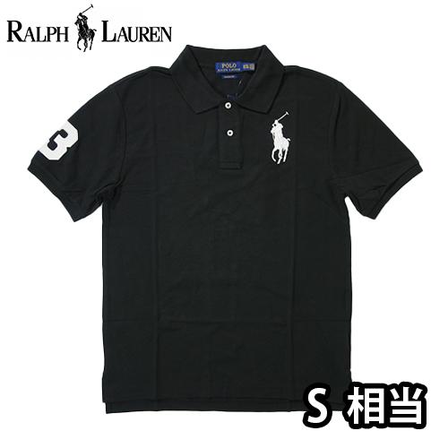 【数量限定】  Ralph Lauren ラルフローレン BIG PONY LOGO 半袖ポロシャツ メンズ / ブラック / S