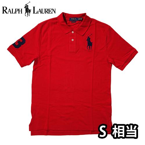 【数量限定】  Ralph Lauren ラルフローレン BIG PONY LOGO 半袖ポロシャツ メンズ / レッド / S