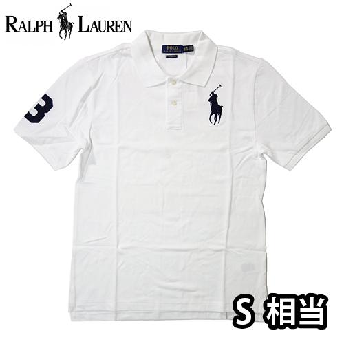 【数量限定】  Ralph Lauren ラルフローレン BIG PONY LOGO 半袖ポロシャツ メンズ / ホワイト / S