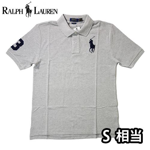 【数量限定】  Ralph Lauren ラルフローレン BIG PONY LOGO 半袖ポロシャツ メンズ / グレー / S