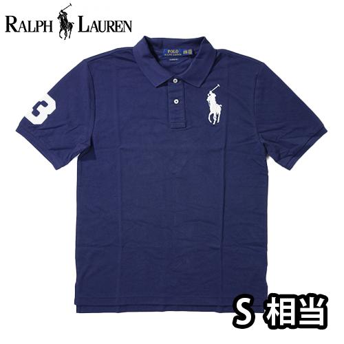 【数量限定】  Ralph Lauren ラルフローレン BIG PONY LOGO 半袖ポロシャツ メンズ / ネイビー / S
