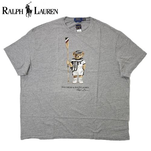 【数量限定】  大きいサイズ Ralph Lauren ラルフローレン Polo Bear BOAT HOUSE 半袖Tシャツ メンズ / グレー / 3L