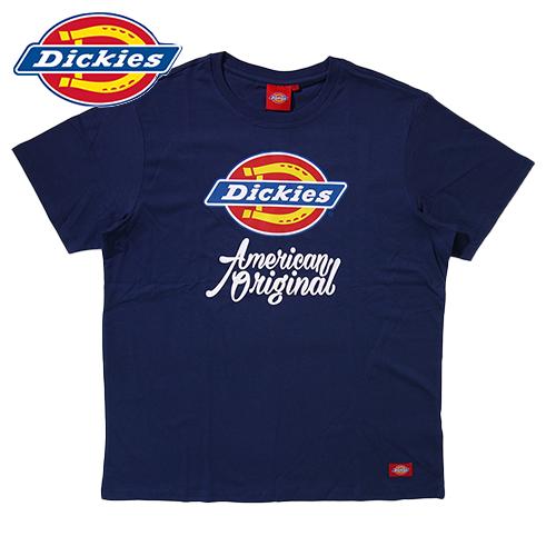【数量限定】 大きいサイズ DICKIES ディッキーズ SATISFACTION GUARANTEED 半袖Tシャツ メンズ / ネイビー / 3L