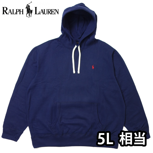 【数量限定】  大きいサイズ Ralph Lauren ラルフローレン ポニー ロゴ プルオーバーパーカー メンズ / ネイビー / 3L