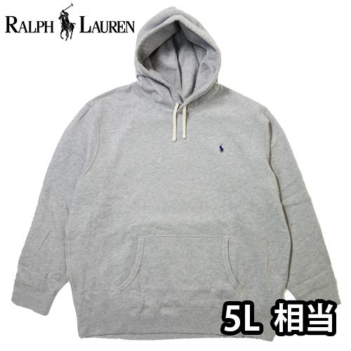 【数量限定】  大きいサイズ Ralph Lauren ラルフローレン ポニー ロゴ プルオーバーパーカー メンズ / グレーヘザー / 3L