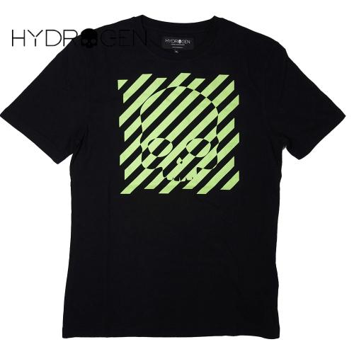 【数量限定】HYDROGEN ハイドロゲン スカル ボーダー 半袖Tシャツ メンズ / 2L  4L