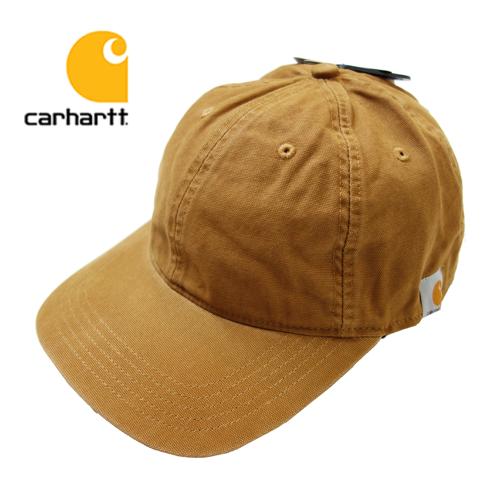 【数量限定】  大きいサイズ CARHARTT カーハート Cotton Canvas Cap 帽子 メンズ / ブラウン / ONESIZE