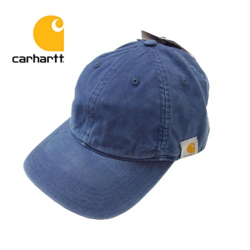 【数量限定】  大きいサイズ CARHARTT カーハート Cotton Canvas Cap 帽子 メンズ / ネイビー / ONESIZE