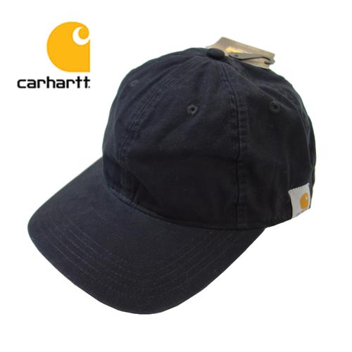 【数量限定】  大きいサイズ CARHARTT カーハート Cotton Canvas Cap 帽子 メンズ / ブラック / ONESIZE