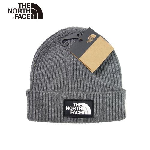 【数量限定】  大きいサイズ THE NORTH FACE ザ ノースフェイス ボックスロゴ ビーニー ニット帽 ニットキャップ 帽子 メンズ / グレー / ONESIZE