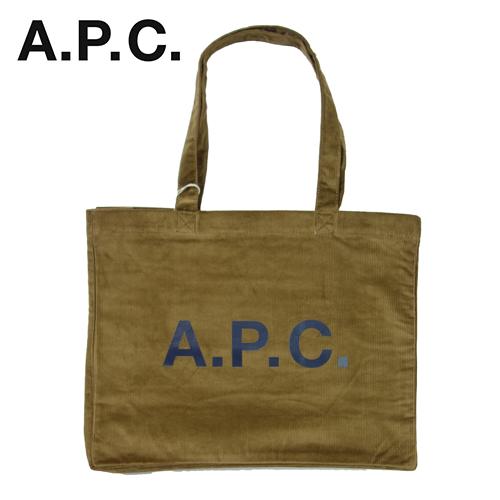 【数量限定】  大きいサイズ A.P.C アー・ペー・セー CORDUROY DIANE SHOPPING BAG COETQ バッグ メンズ / ブラウン / ONESIZE