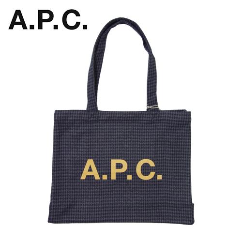 【数量限定】  大きいサイズ A.P.C アー・ペー・セー トートバッグ DIANE SHOPPING BAG WOAML バッグ メンズ / グレンチェック / ONESIZE