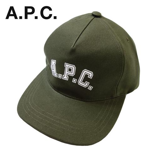 【数量限定】  大きいサイズ A.P.C アー・ペー・セー キャップ EDEN COLLEGE CASQUETTE COCPR 帽子 メンズ / JAC MILITARY KHAKI カーキ / ONESIZE