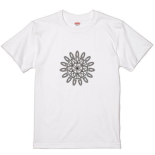 【数量限定/20%OFF】大きいサイズ メンズ Tシャツ 半袖 曼荼羅/3L/ホワイト