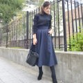 GLAMOROUS GARDEN デザインポケットフレアスカート