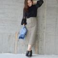 2wayチェックタイトスカート【ネコポスOK】【8j-920-07751】