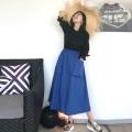カラーポケットスカート【ネコポスOK】【8i-831-01197】