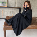 リブプリーツニットスカート【8h-831-01652】