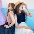 チュール&フリル袖トップス【ネコポスOK】【8g-831-01736】