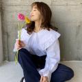 フリルビッグカラーシャツ【ネコポスOK】【8e-831-01957】