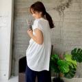 ラッフルヘムTシャツ【ネコポスOK】【8e-138-01412】