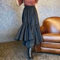 裾アシメトリースカート【ネコポスOK】【8d-831-02119】
