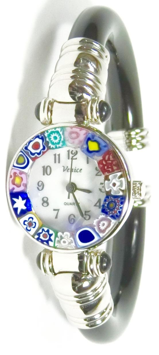 バングル腕時計シルバーブラック