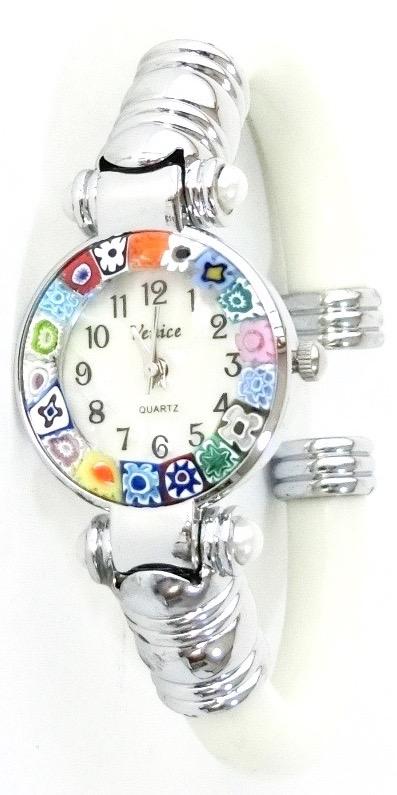 バングル腕時計シルバーホワイト