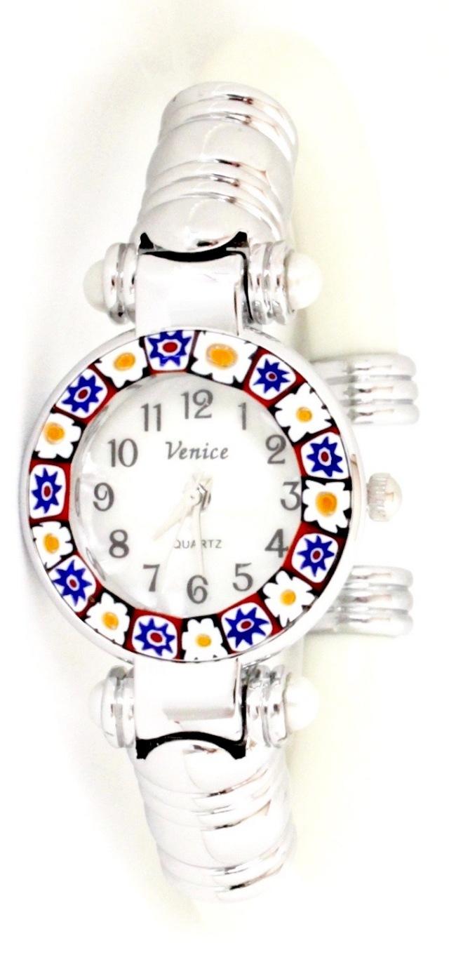 『限定』バングル腕時計シルバーホワイトA