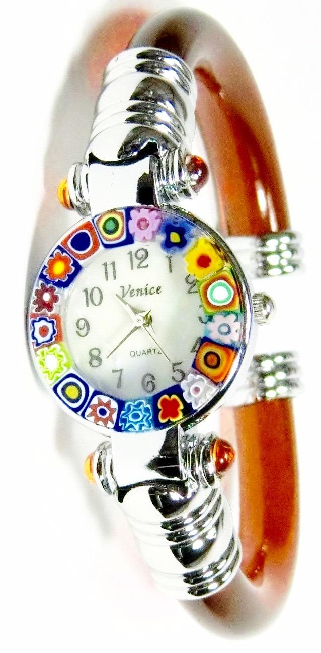 バングル腕時計シルバーブラウン