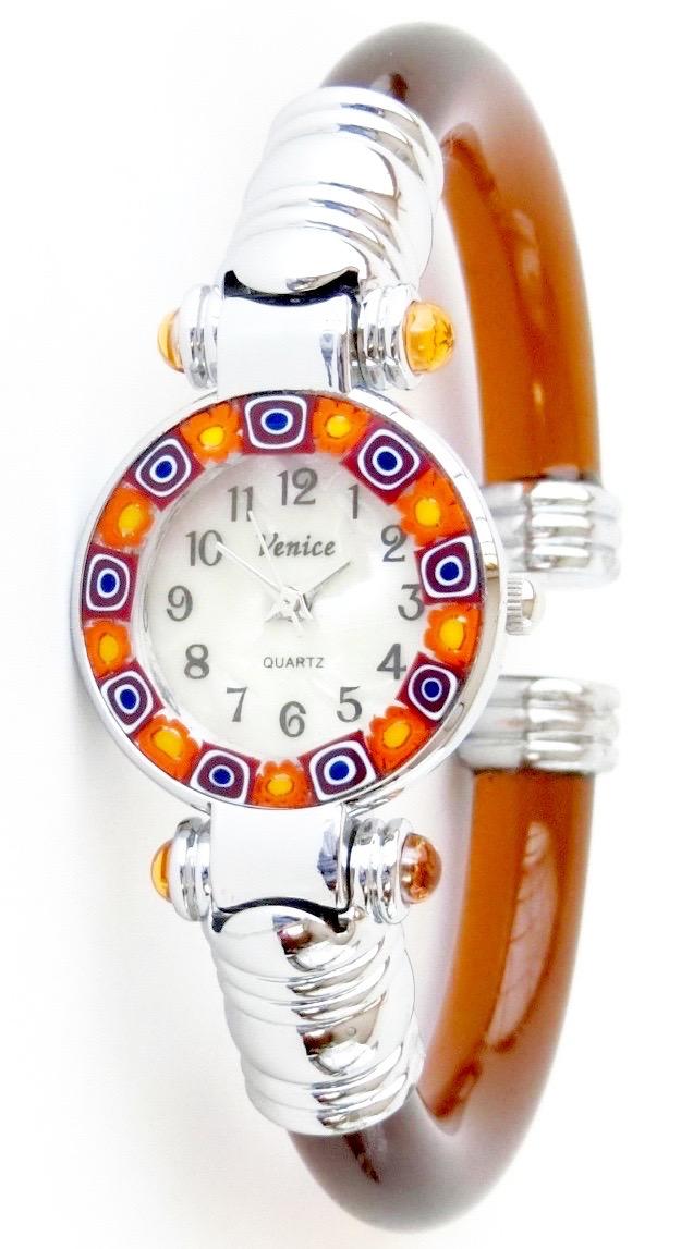 『限定』バングル腕時計シルバーブラウン