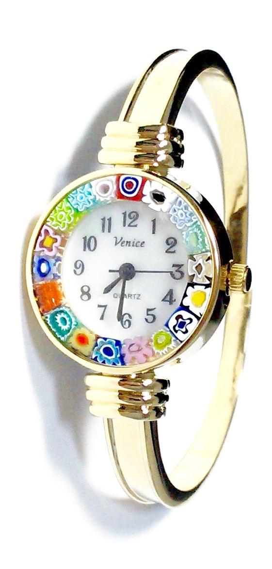 バングル腕時計ゴールド