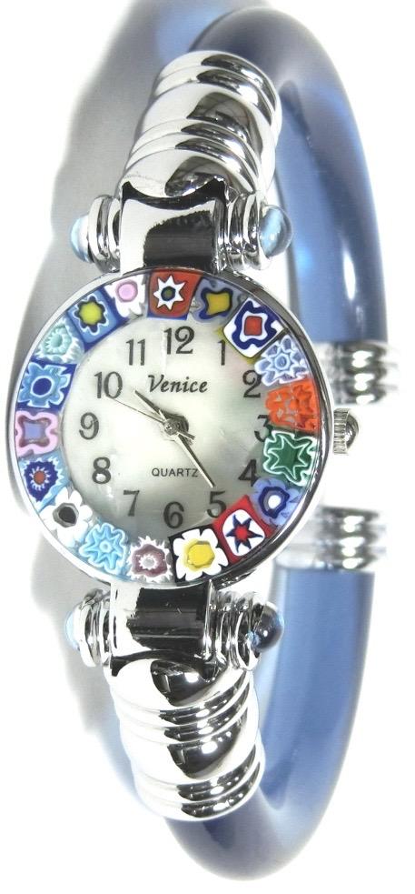バングル腕時計シルバーライトブルー