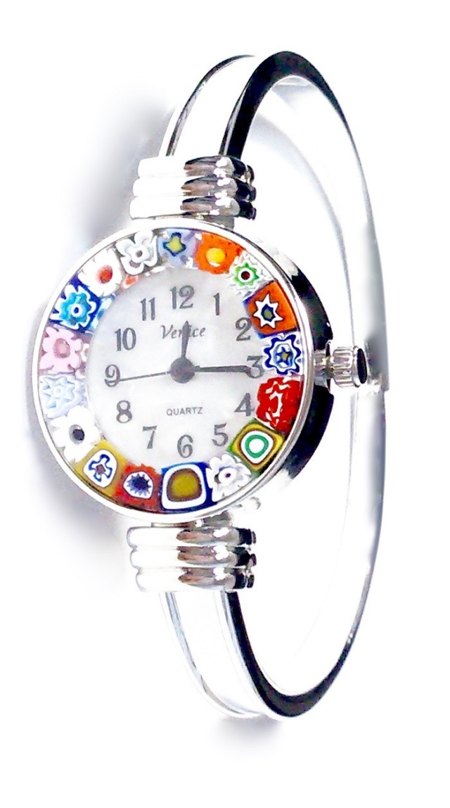 バングル腕時計シルバー