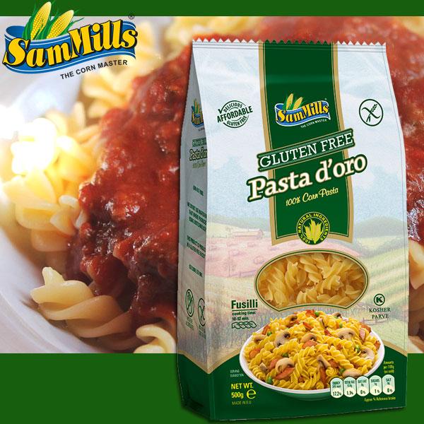 グルテンフリー Pasta d'oro コーンマカロニ・フジッリ 500g [パスタ 健康食品]