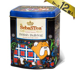 【ケース販売/1ケース12個入】セバスティ 動物型紅茶 100g 【ブリティッシュブルドッグ】[スリランカ産 SebaSTea イングリッシュティー]