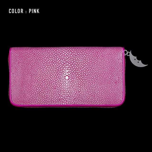 【剛腕】ガルーシャ製 エイヒゲロングウォレット / ピンク