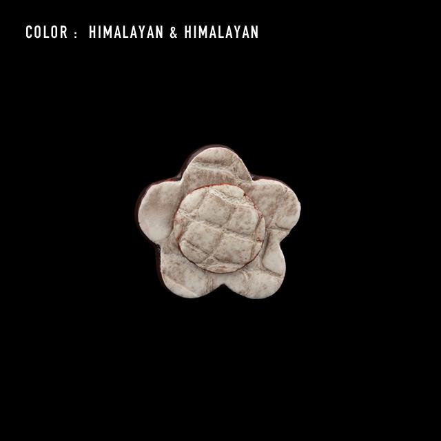 【剛腕】クロコダイル製 フラワー ブートニエール /ヒマラヤ&ヒマラヤ