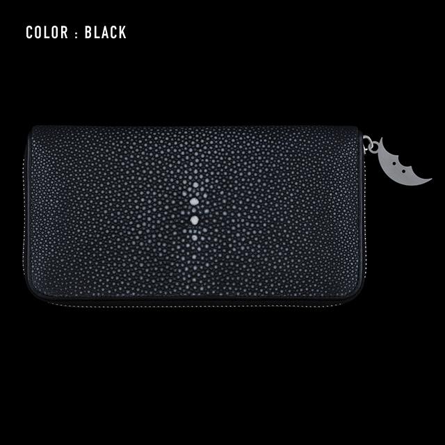 【剛腕】ガルーシャ製 エイヒゲロングウォレット / ブラック
