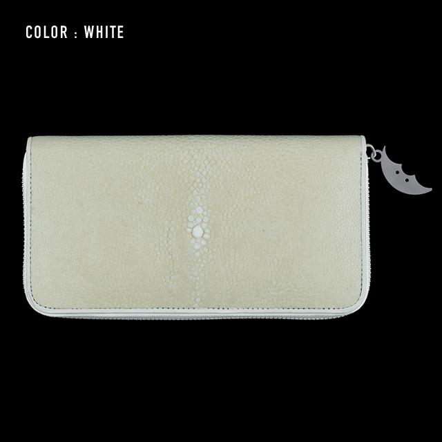 【剛腕】ガルーシャ製 エイヒゲロングウォレット / ホワイト
