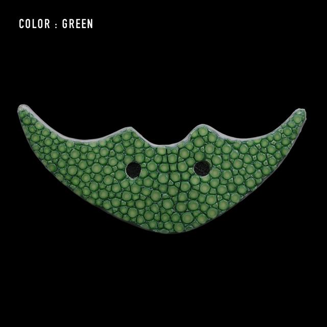 【剛腕】ガルーシャ製 エイヒゲ ブートニエール /グリーン